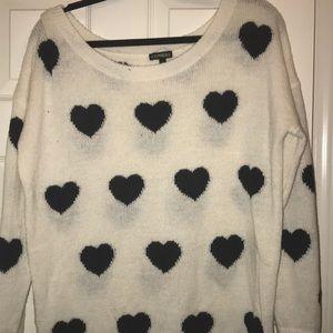 Express Heart Sweater